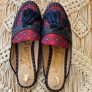 Sam Edelman Navy And Maroon Mule Slip-On 10.5.